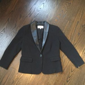 Black blazer with three quarter length sleeve